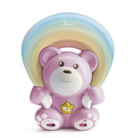 """Игрушка-проектор Chicco """"Мишка под радугой"""", арт. 10474, цвет Розовый"""