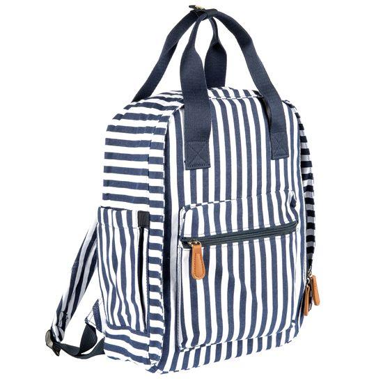 Сумка-рюкзак для мам Chicco Blue strip, арт. 090.46314.080, цвет Синий с белым