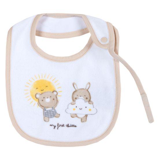 Слюнявчик Chicco Bear & Sun, арт. 090.32746.033, цвет Белый