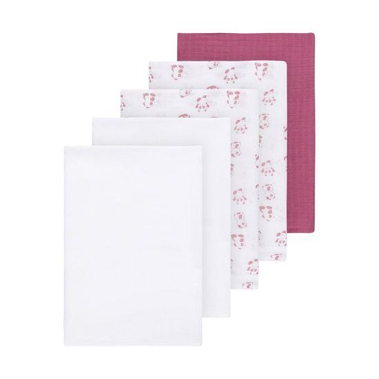 Муслиновые пеленки (5 шт) Name it Pink Panda, арт. 201.13174496.HROS, цвет Розовый