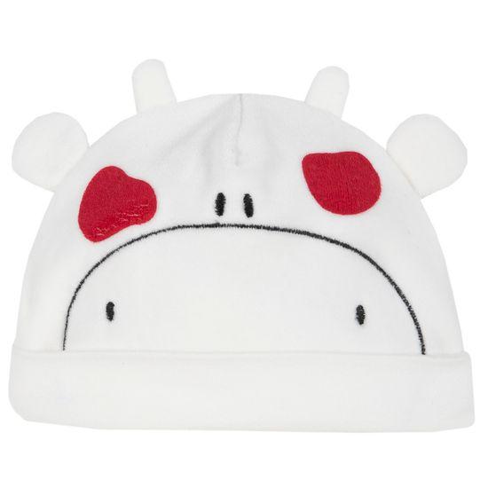 Шапка велюровая Chicco Funny cow, арт. 091.04232.030, цвет Белый