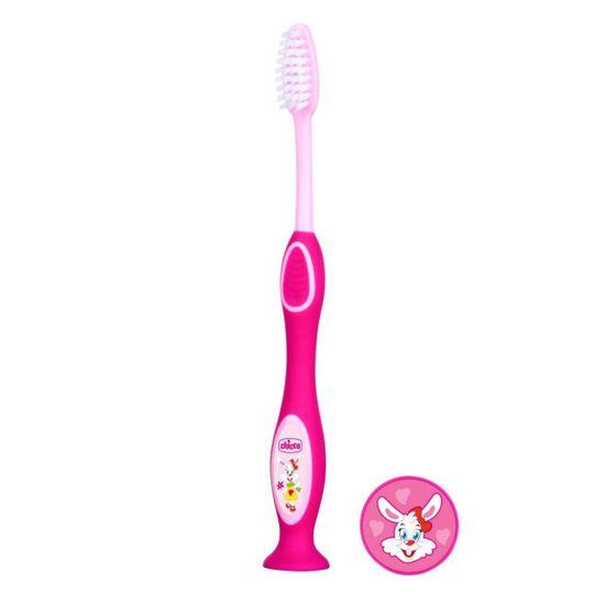 Зубная щетка Chicco, 3-6 лет, арт. 09079, цвет Розовый