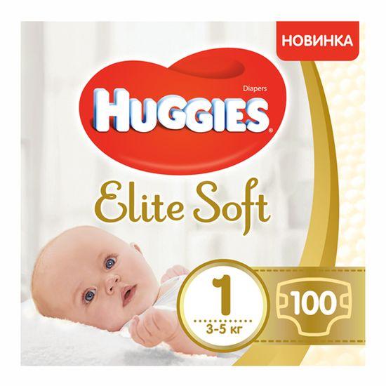 Подгузники Huggies Elite Soft, размер 1, 3-5 кг, 100 шт, арт. 5029053548500