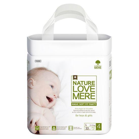 Подгузники-трусики Nature Love Mere Magic Soft Fit, размер 4 (L), 7-11 кг, 22 шт, арт. 8809402093694