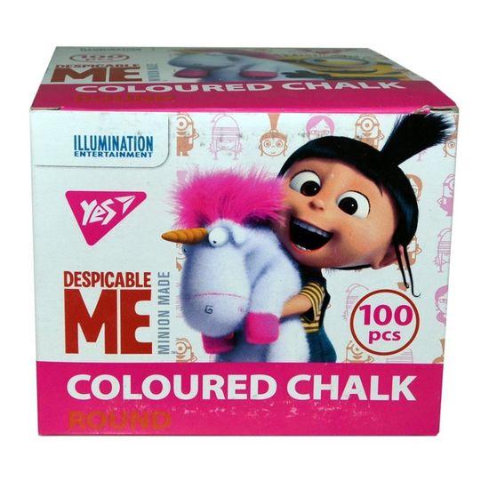 """Мел цветной YES """"Minions Fluffy"""", 100 шт, арт. 400337"""