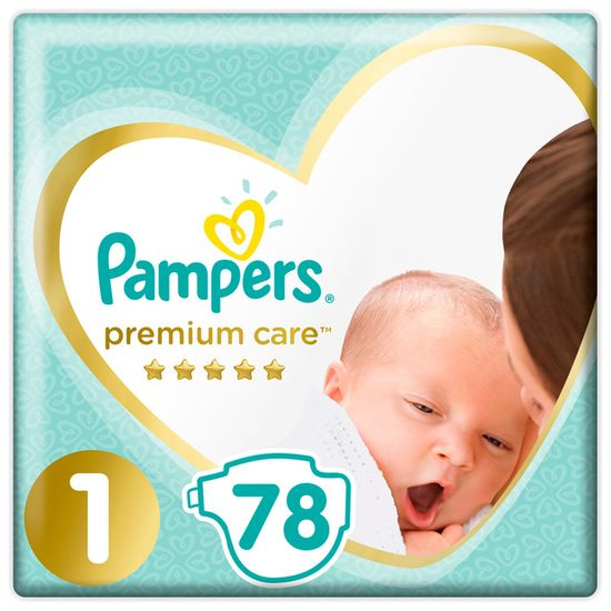 Подгузники Pampers Premium Care, размер 1, 2-5 кг, 78 шт, арт. 8001841104836