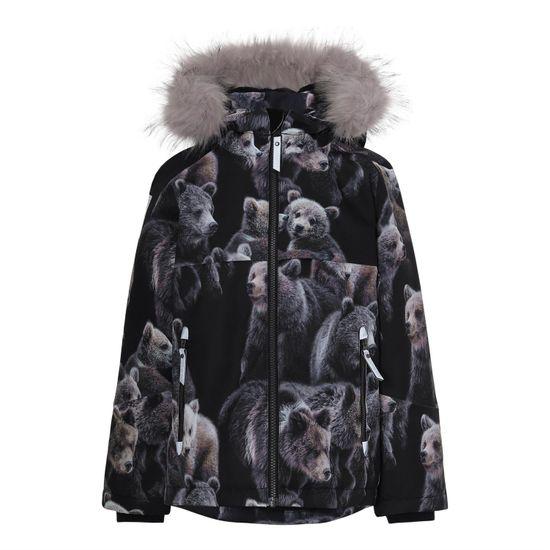 Термокуртка Molo Castor Fur Teddy, арт. 5W20M307.6135, цвет Черный