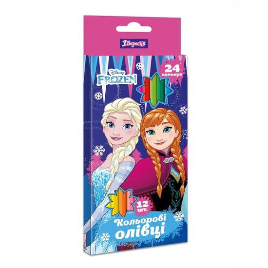 "Карандаши 1Вересня ""Frozen"", 12/24 цв., арт. 290619"