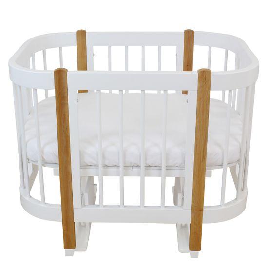 Кроватка-трансформер 3 в 1 Piccolino Sweet Dreams, арт. 11501, цвет Белый с бежевым