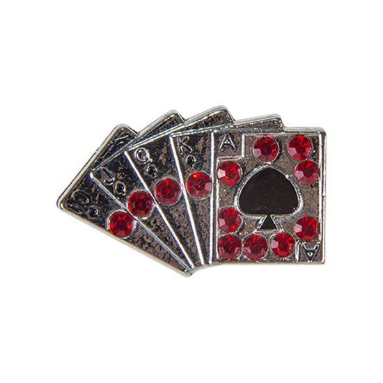 """Эмодзи Tinto """"Playing cards"""", арт. AC2286, цвет Серебряный"""