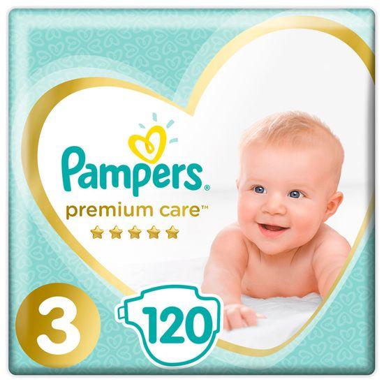 Подгузники Pampers Premium Care, размер 3, 6-10 кг, 120 шт, арт. 4015400465461