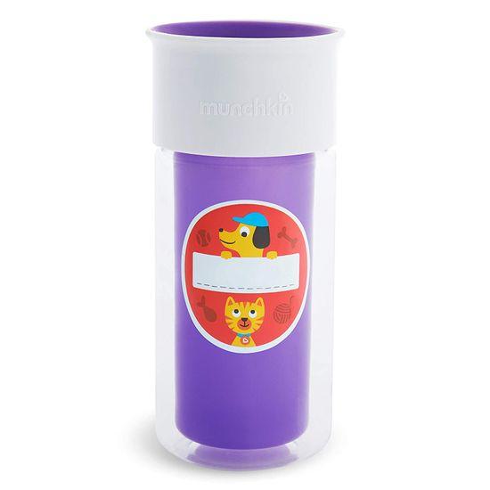"Бутылка непроливная Munchkin ""Miracle 360 Insulated Sticker"", 266 мл, арт. 17407, цвет Фиолетовый"