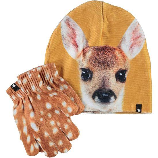 Комплект Molo Fawn Face: шапка и перчатки, арт. 7W21S901.7484, цвет Оранжевый