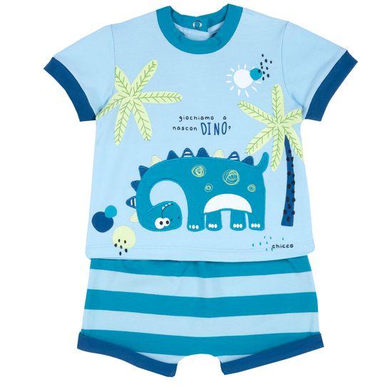 Костюм Chicco Fun dinosaur: футболка и шорты, арт. 090.76953.025, цвет Голубой