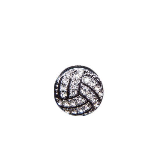 """Эмодзи Tinto """"Volleyball ball"""", арт. AC2271, цвет Серебряный"""