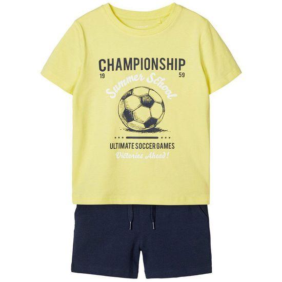 Костюм Name it Norton: футболка и шорты, арт. 201.13174810.DSAP, цвет Желтый