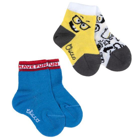 Носки (2 пары) Chicco Funny guy, арт. 090.01526.028, цвет Голубой
