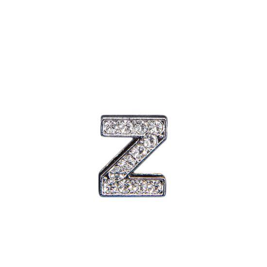 """Эмодзи Tinto """"Буква Z"""" со стразами , арт. LT00936.1, цвет Серебряный"""
