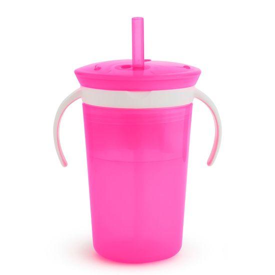 "Чашка-контейнер Munchkin ""Snack and Sip"", арт. 10867, цвет Розовый"