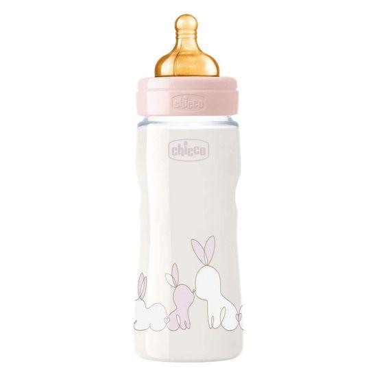Бутылочка  пластик Chicco Original Touch, 330мл, 4м+, арт. 27634, цвет Розовый