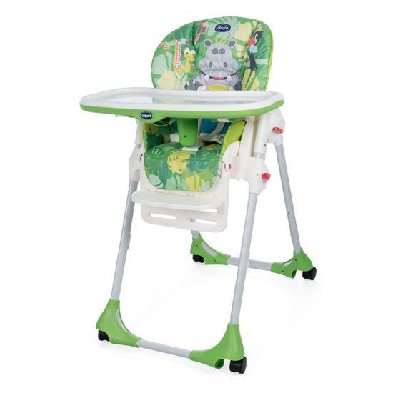 Стульчик для кормления Chicco Polly Easy, 4-х колесный, арт. 79565, цвет Зеленый