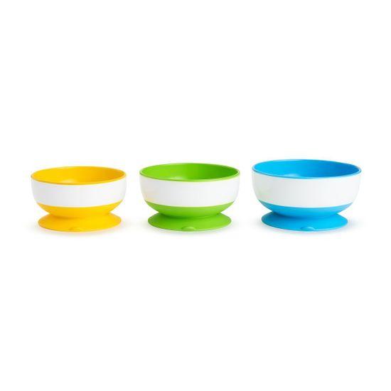 Набор тарелок с присосками Munchkin, 3 шт, арт. 01107504, цвет Разноцветный