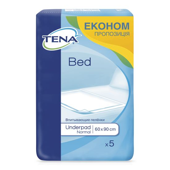 Пеленки одноразовые Tena Bed Normal 60х90см, 5 шт, арт. 770057-04