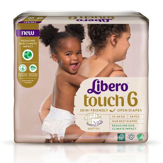 Подгузники Libero Touch, размер 6, 13-20 кг, 38 шт, арт. 7989