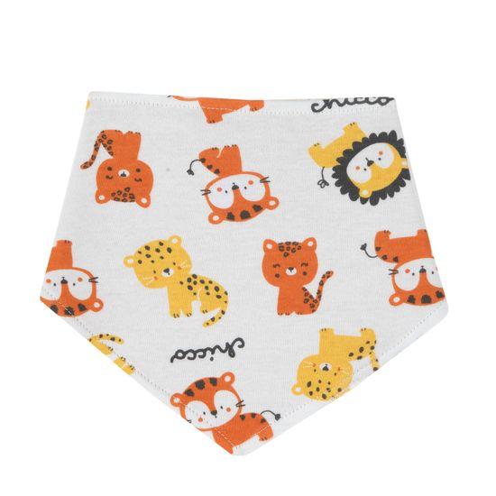 Слюнявчик Chicco Cute lion, арт. 090.32811.030, цвет Оранжевый
