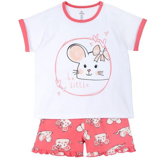Пижама Chicco Little mouse, арт. 090.35377.016, цвет Коралловый