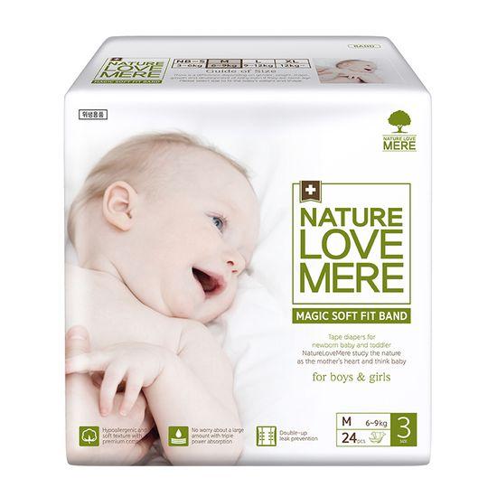 Подгузники Nature Love Mere Magic Soft Fit, размер 3 (M), 6-9 кг, 24 шт, арт. 8809402093663