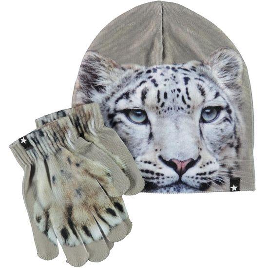 Комплект Molo Snowleo Face: шапка и перчатки, арт. 7W21S901.7485, цвет Серый