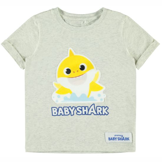 Футболка Name it Baby shark green, арт. 211.13180606.LGRE, цвет Серый