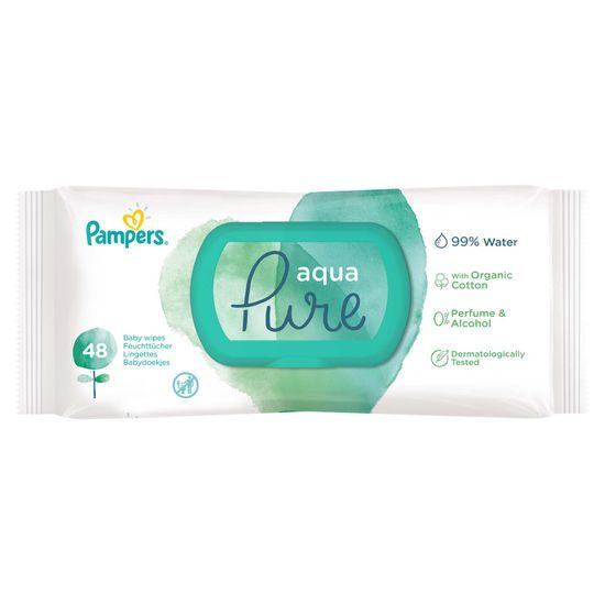 Детские влажные салфетки Pampers Aqua Pure, 48 шт, арт. 8001090603326