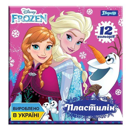 """Пластилин 1Вересня """"Frozen"""", 12 цв., арт. 540546"""