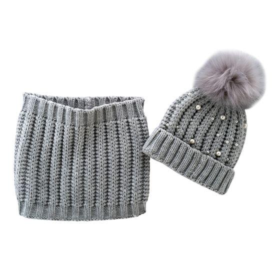 Комплект Chicco Snow white: шапка и шарф, арт. 090.04746.095, цвет Серый