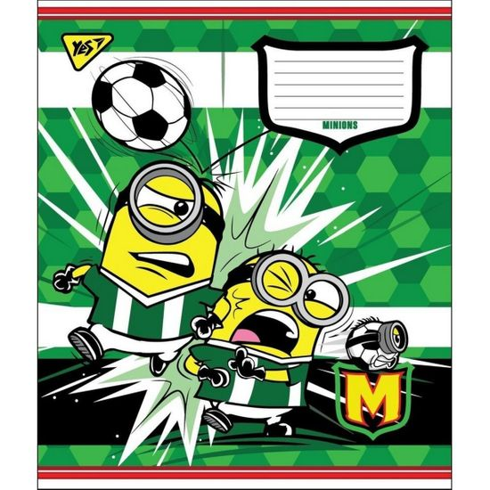 "Тетрадь YES ""Minions goal"", косая линия, А5, 12 л., арт. 764509"