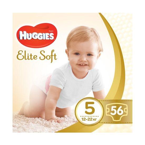 Подгузники Huggies Elite Soft, размер 5, 12-22 кг, 56 шт, арт. 5029053545318