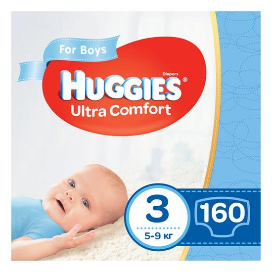 Подгузники Huggies Ultra Comfort для мальчика, размер 3, 5-9 кг, 160 шт, арт. 5029054218099