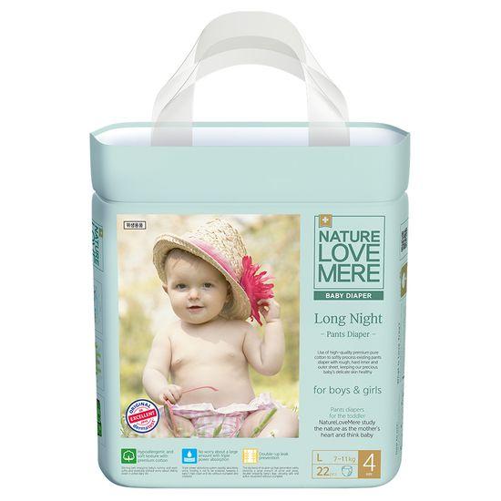 Подгузники-трусики Nature Love Mere Long Night, размер 4 (L), 7-11 кг, 22 шт, арт. 8809402093236