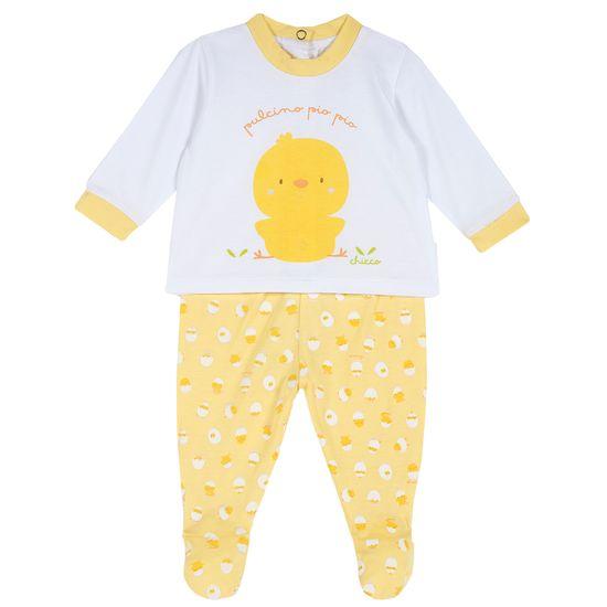 Костюм Chicco Funny chicken: рубашка и ползунки, арт. 090.76946.034, цвет Желтый
