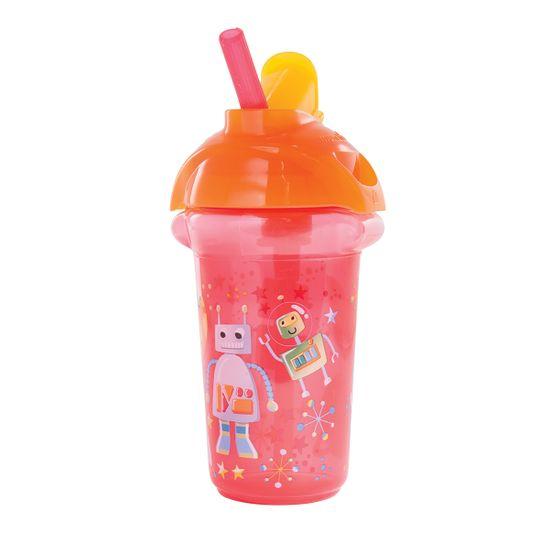 "Бутылочка непроливная Munchkin ""Flip Straw"", 266мл, арт. 012092, цвет Красный"