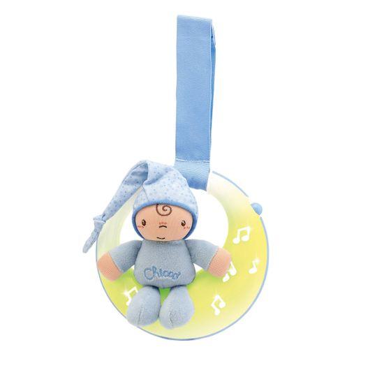 "Игрушка музыкальная на кроватку Chicco ""Good night Moon"", арт. 02426, цвет Голубой"