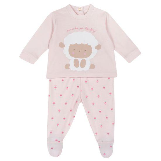 Костюм Chicco Lamb: рубашка и ползунки, арт. 090.76946.011, цвет Розовый