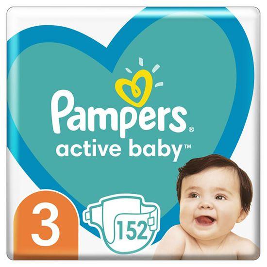 Подгузники Pampers Active Baby, размер 3, 6-10 кг, 152 шт, арт. 8001090951533