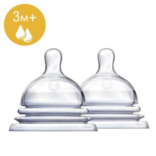 Соска силиконовая для бутылочки Munchkin Latch, 3м+, 2 шт., арт. 011642