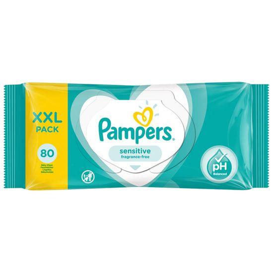 Детские влажные салфетки Pampers Sensitive, 80 шт, арт. 8001841041421