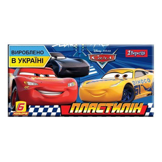 """Пластилин 1Вересня """"Cars"""", 6 цв., арт. 540549"""