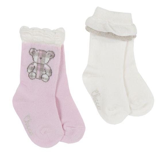Носки (2 пары) Chicco Lucky bear, арт. 090.01446.010, цвет Розовый