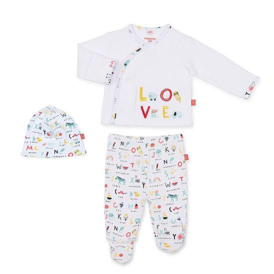 Комплект Magnetic Me Love: рубашка, повзунки и шапка , арт. 191.14161.ABCLO, цвет Белый